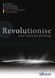 Affinion Print brochure